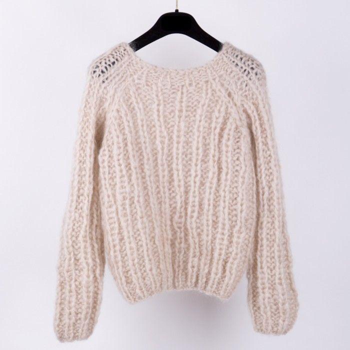 Mohair Oversized Sweater, Short / モヘアニット by Maiami - chic ...