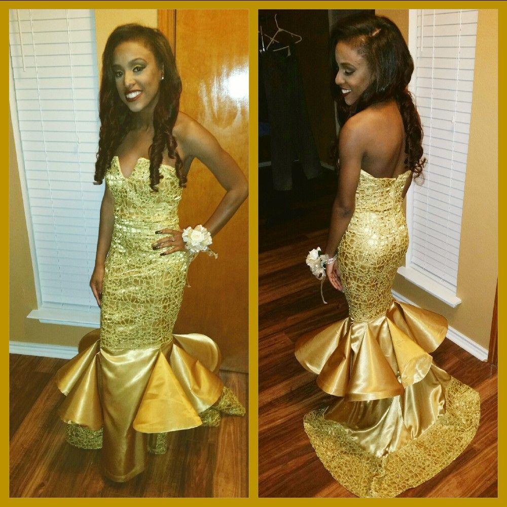 Now booking for prom golden goddess custom mermaid prom