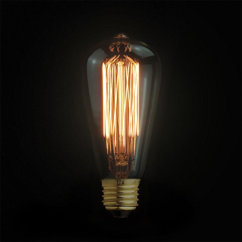LED Filament Bulb ST64 Pink