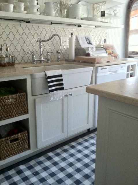 Prettiest Kitchen Loving That Buffalo Check Rug I M Thinking Kinda Need It In My Life Any Idea Where Can Find