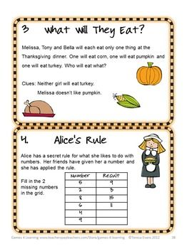 Thanksgiving Math Worksheets Games Puzzles Brain Teasers November Activities Thanksgiving Math Thanksgiving Math Worksheets Brain Teasers