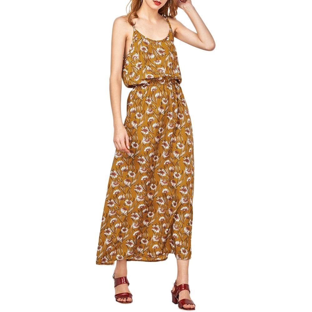 Beautiful floral cut out beach maxi bohemian dress with soft