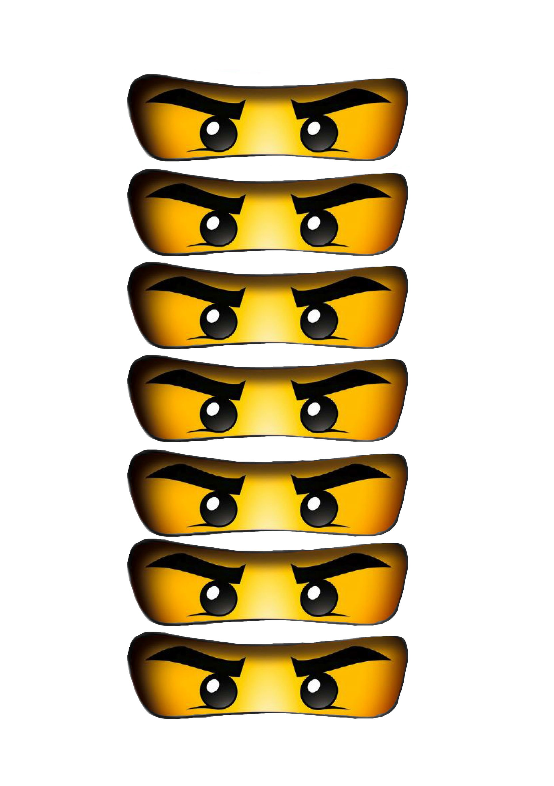 Free Printable Ninjago Eyes