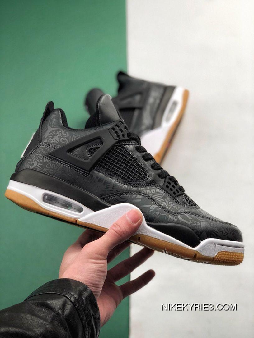 Online Air Jordan 4 Laser Aj4 Black