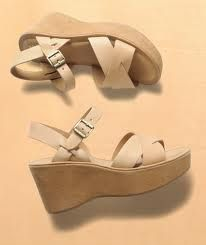 2b87e812f2266 1970's wedge sandals | A Blast From My Past | Vintage shoes, 70s ...