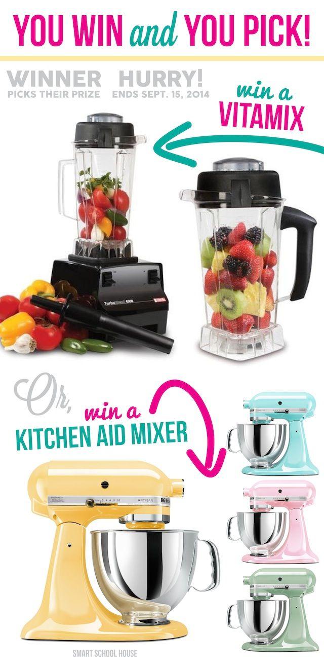 Vitamix Or Kitchen Aid Giveaway Giveaway Kitchen Aid Mixer