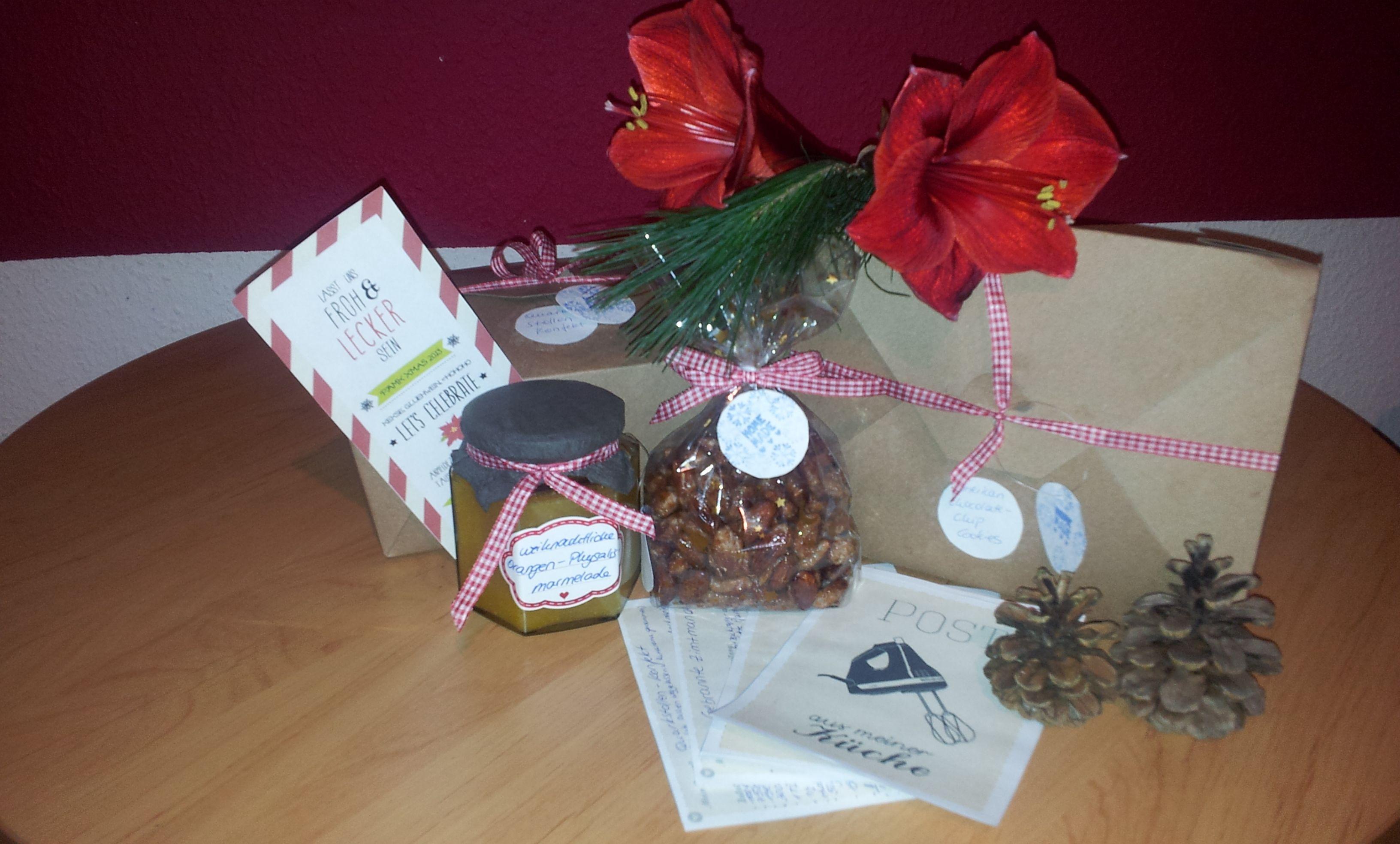 - weihnachtliche Orangen / Physalismarmelade - American Chocolate Chip Cookies - Quarkstollen Konfekt  - gebrannte Zimtmandeln