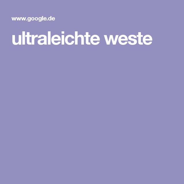 ultraleichte weste