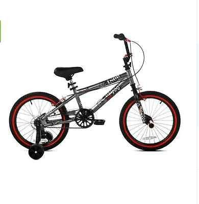 New 18 Boys Bmx Bike Steel Silver Unisex Front Rear Alloy Hand