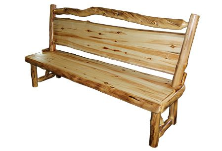 Bench · Benches With Backs | Rustic Log