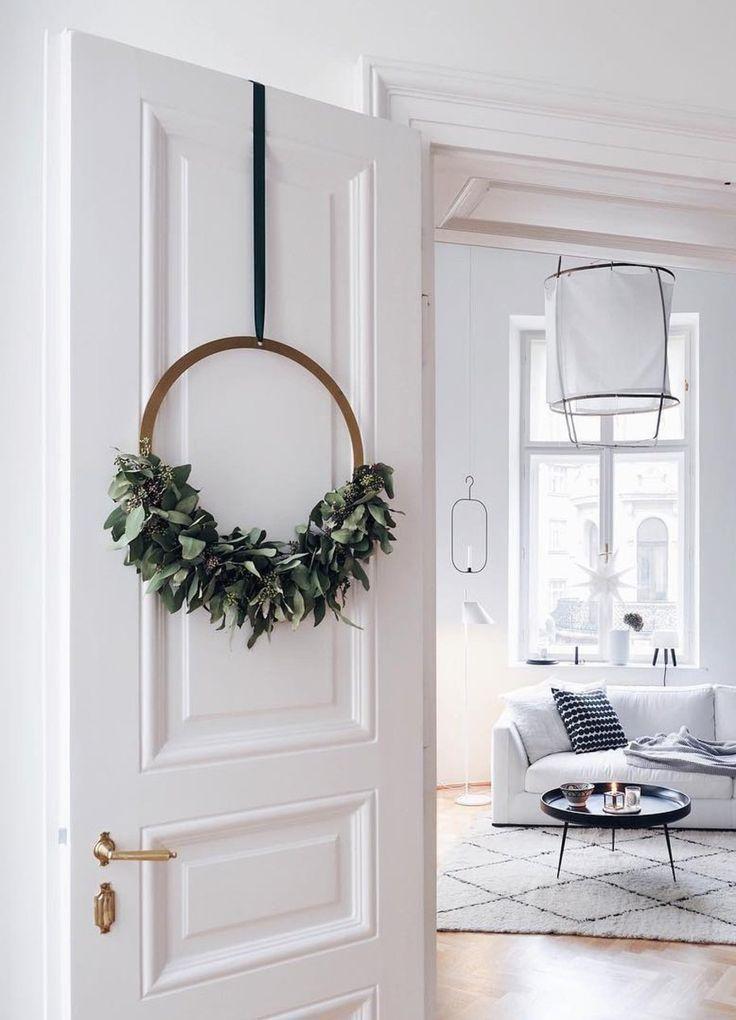 Der Adventskranz bekommt ein skandinavisches Upgrade - sooo schön!