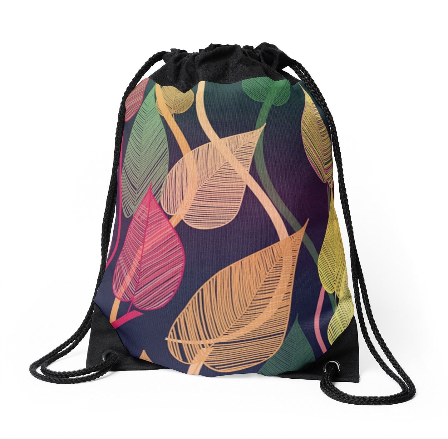 2e3f0db38f11 Colorful Vines Autumn Leaves Pattern. Colorful Vines Autumn Leaves Pattern  Drawstring Bags