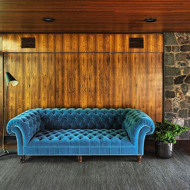 A Traditional Design In A Warm Golden Setting. Our Early Victorian  Chesterfield Sofa In Turquoise