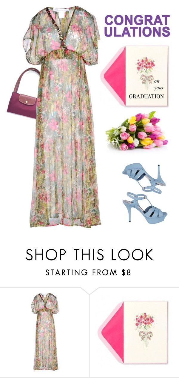 """Granny"" by susanelizabeths on Polyvore featuring Longchamp, La Fabbrica Del Lino, Chictopia, Yves Saint Laurent and graduationdaydress"