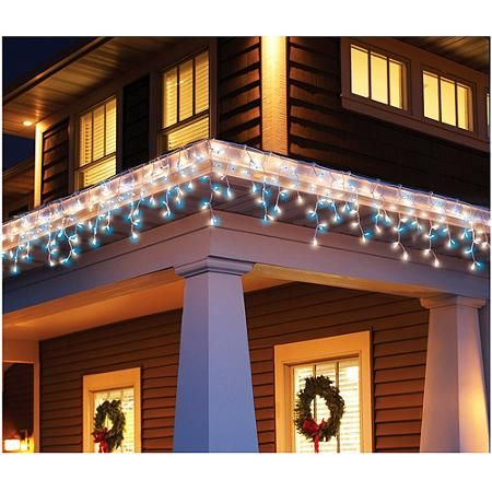 Holiday time 300 count icicle christmas light set bluewhite holiday time 300 count icicle christmas light set bluewhite walmart mozeypictures Gallery