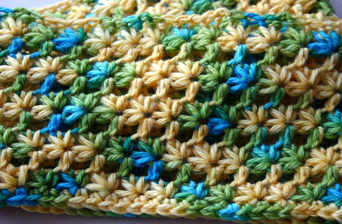 How to crochet starry eyes scarf