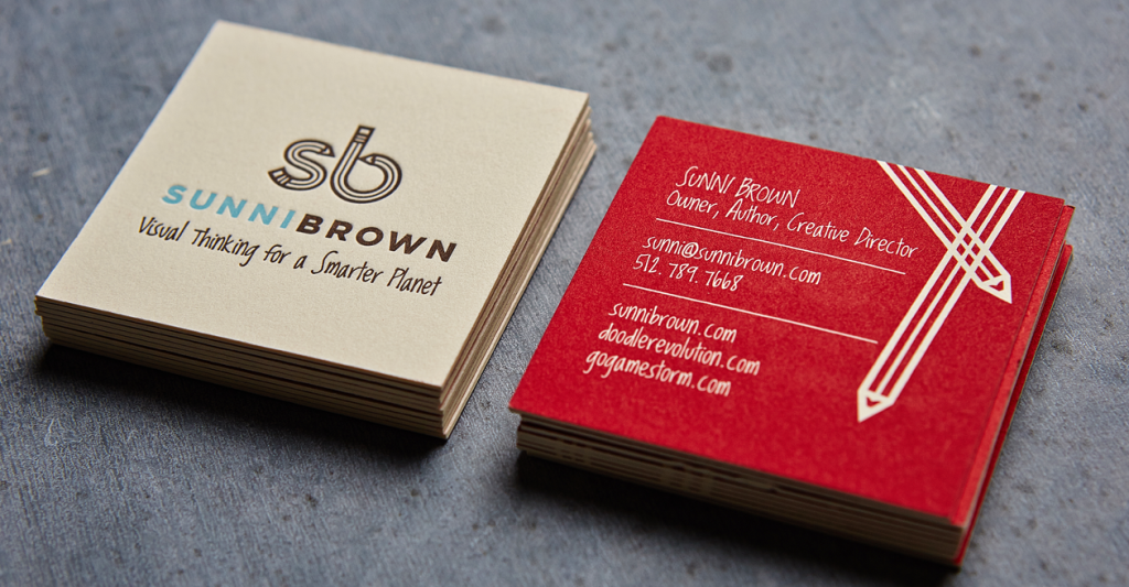 It\'s hip to be square! Loving these square business cards by Sunni ...
