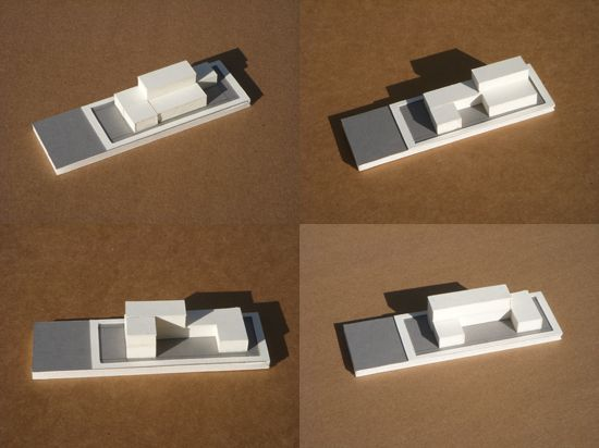 PARTI MODEL  Parti- a basic visual illustration of an idea   Architect-Modative architects  Project Name-roberts ave residence   Year-2011  Location-Culver City, Ca