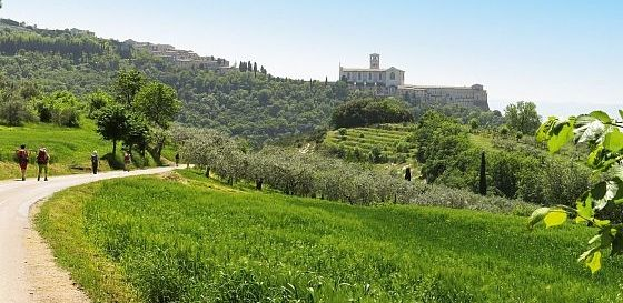 Franziskusweg, kurz vor Assisi