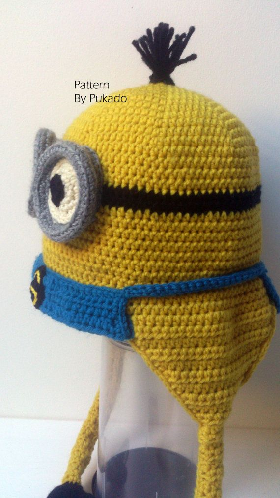 Pattern Kevin the Minion Hat DIY Halloween costume by Pukado  c75f4a6588b