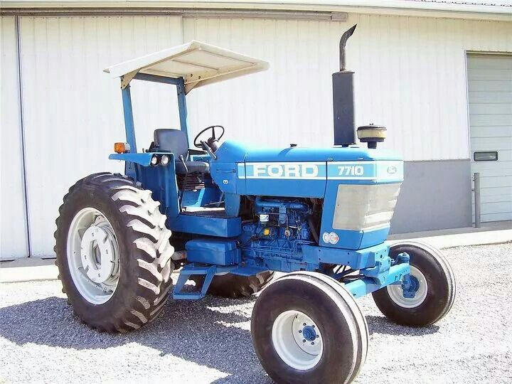 Ford 7710 Vintage Tractors New Holland Tractor Old Tractors