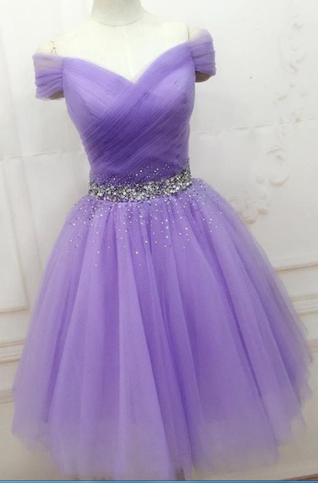Short Purple Prom Dresses Cheap