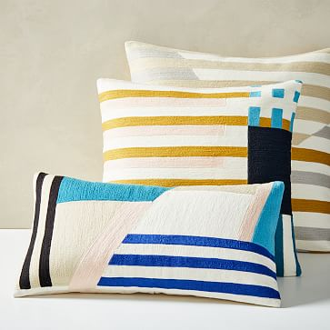 Wallace Sewell Crewel Pillow Covers in