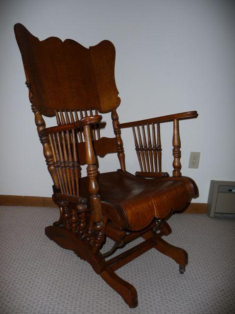 german stitcil rocking chair   Antique Glider Rocking Chair-Antique Glider  Rocking Chair - German Stitcil Rocking Chair Antique Glider Rocking Chair
