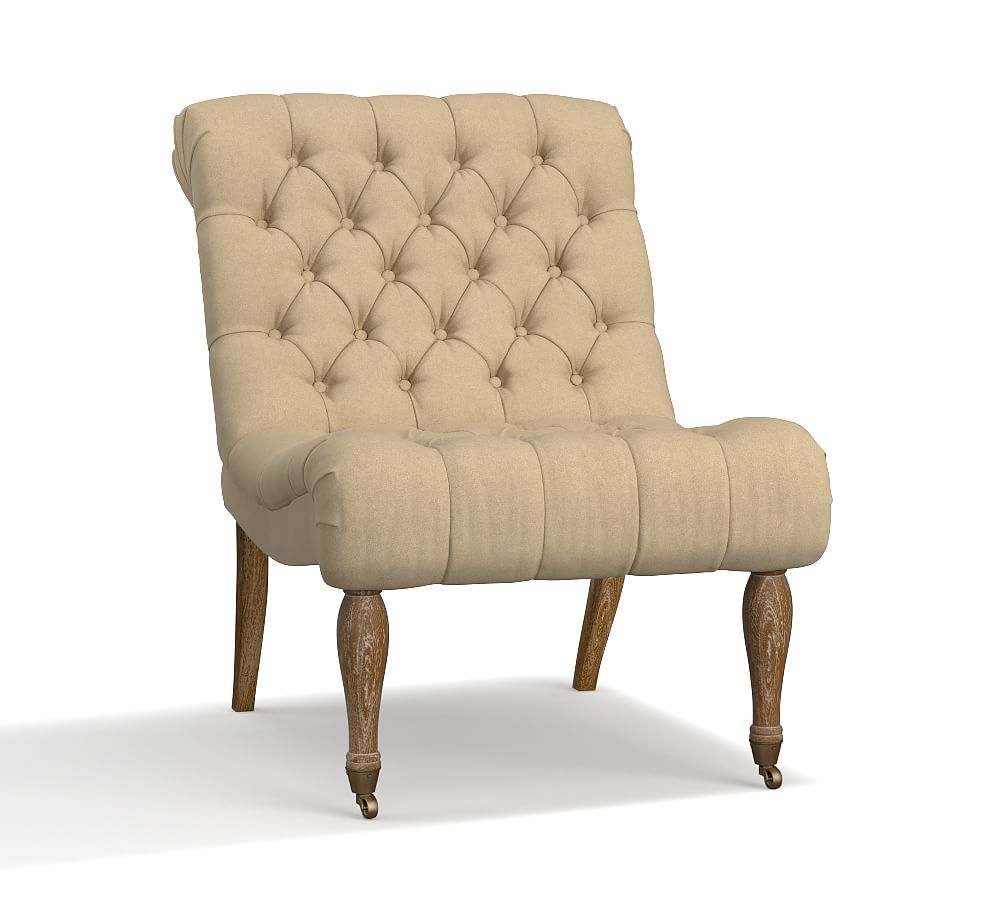Carolyn Tufted Upholstered Slipper Chair Upholstered Chairs