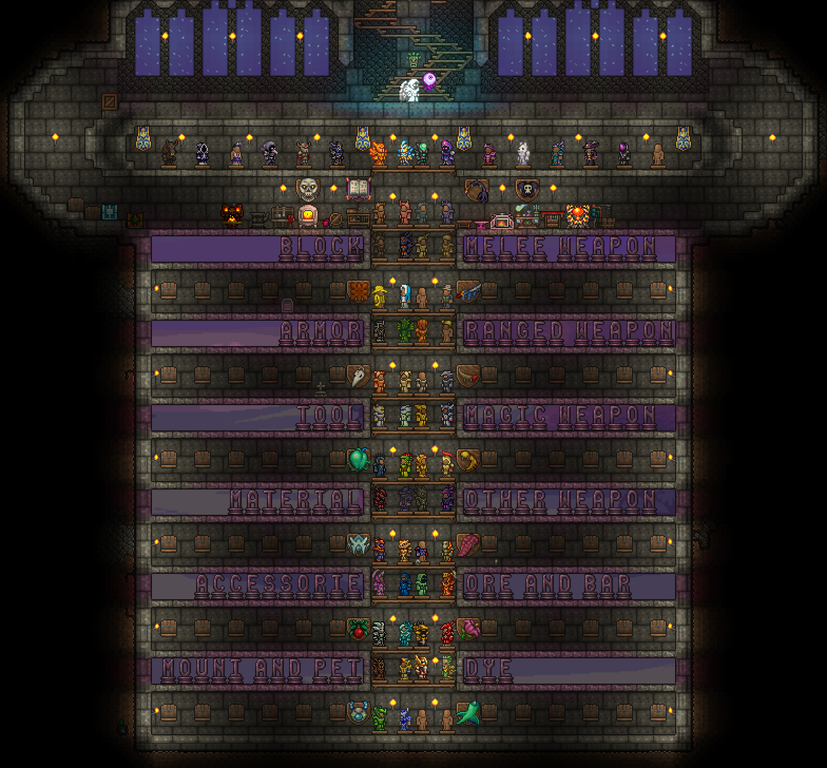 600 Hours Storage Here Terraria Terraria House Design Terrarium Terraria House Ideas