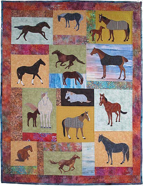 Just Horses 2 Applique Quilt Pattern Horsesponies In Multiple