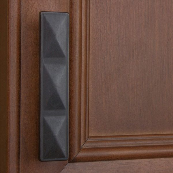 GlideRite 2.5 Inch Oil Rubbed Bronze Rectangle Triple Pyramid Cabinet Pulls  (Pack Of 10)