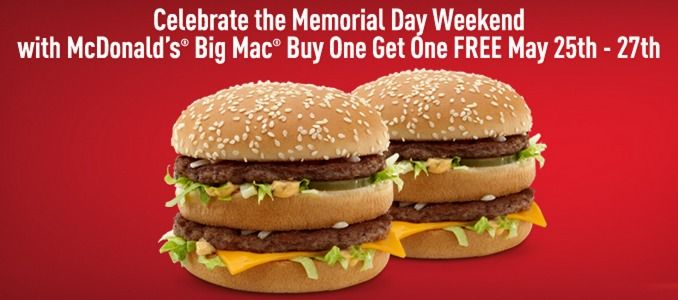 Mcdonald S Promotion Buy One Get One Free Big Macs Free
