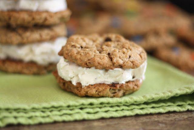 Barefeet In The Kitchen: Monster Cookie Ice Cream Sandwiches