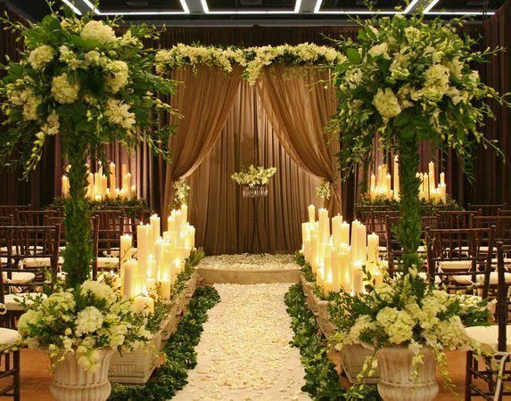 Stunning but i would change the colour scheme all things wedding getting married in winter but dont want to give up your dream of a garden wedding a dramatic indoor formal garden wedding with sheer brown flowing junglespirit Image collections