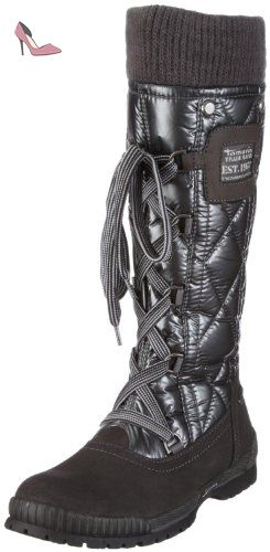 38aeaa03d25ca3 Tamaris , Bottes de neige femme - Argent - Graphite, 42 - Chaussures tamaris  (
