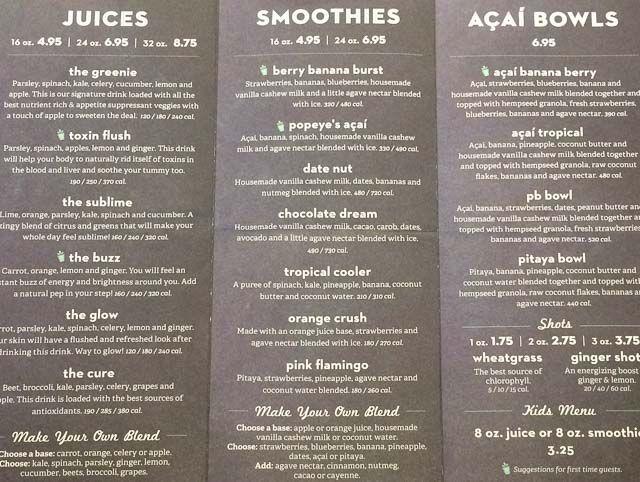 nekter-juice-bar-blackhawk-menu raw food diet Pinterest Juice - best of blueprint juice coffee cashew