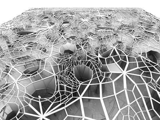 A BUILDING THAT GROWS ITS OWN WEBLIKE SALINE SKIN | VANGUARQ