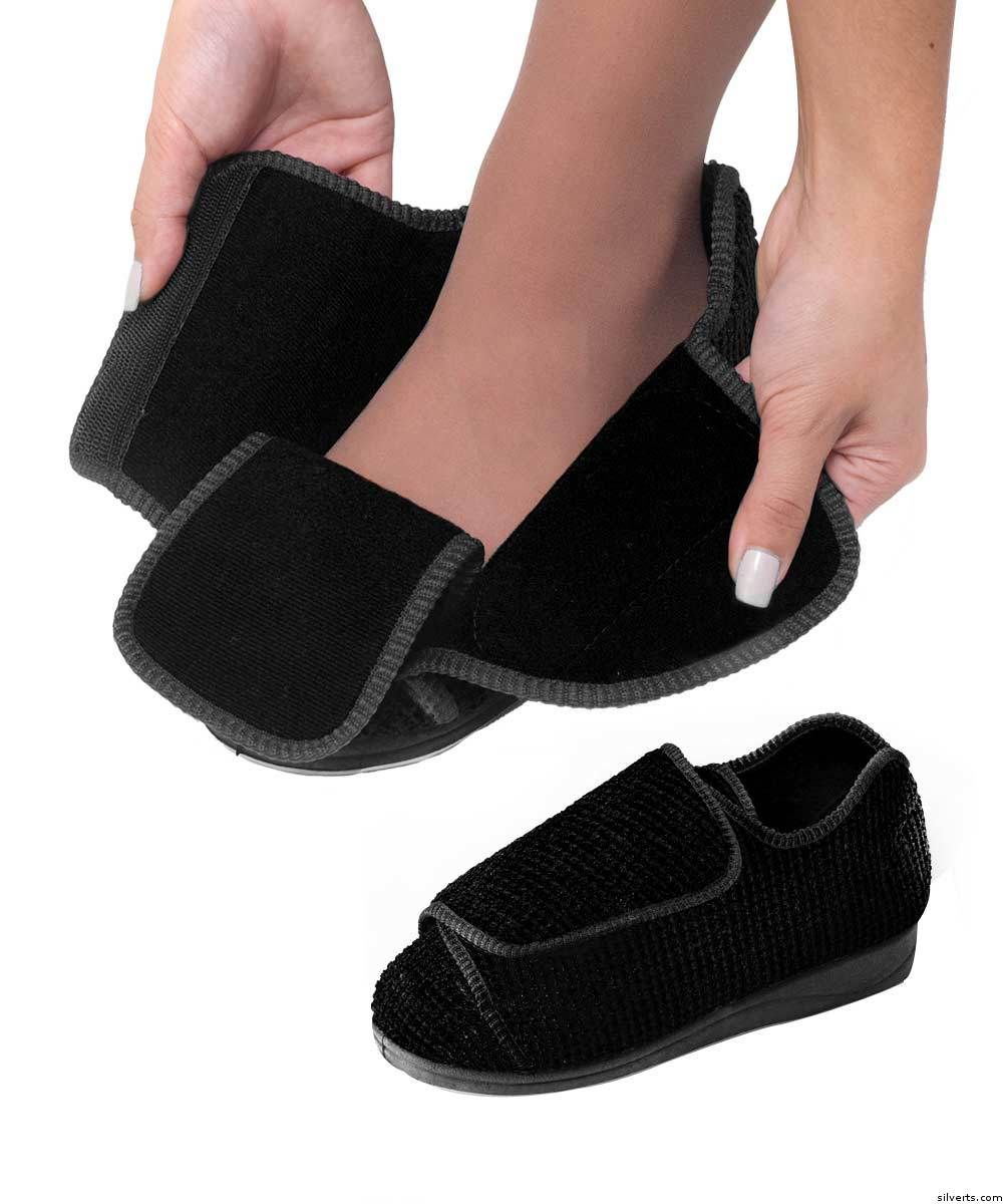 5bb286ddccd5 Womens Extra Extra Wide Width Adaptive Slippers - Deep Diabetic   Edema  Slippers