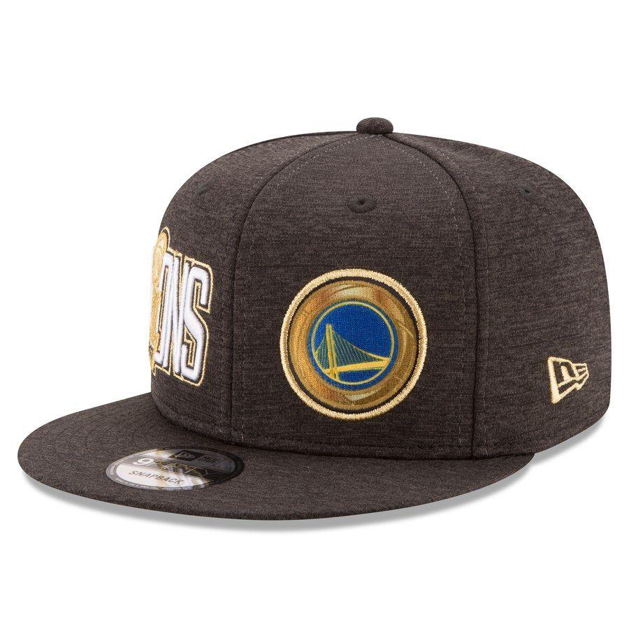 big sale a6604 fe122 Men s Golden State Warriors New Era Black 2017 NBA Finals Champions 9FIFTY Snapback  Adjustable Hat