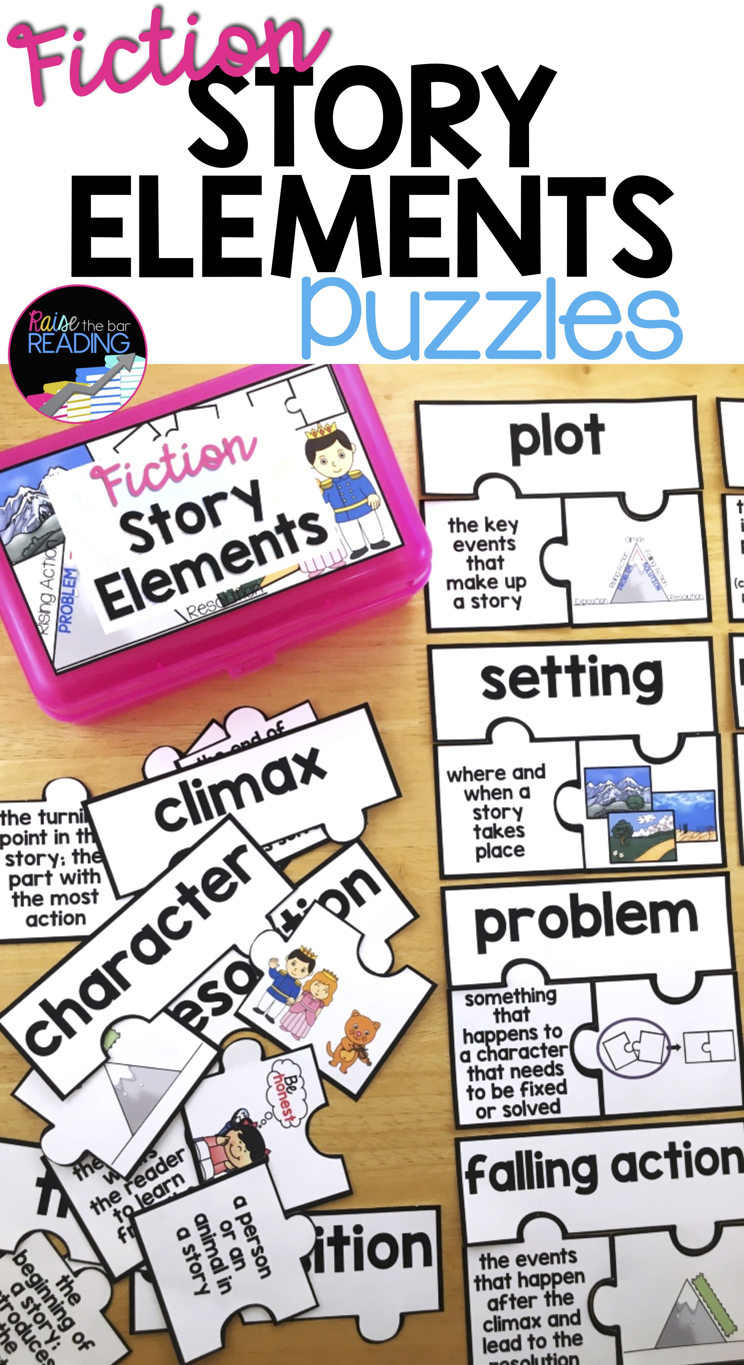 Fiction Story Elements Activity | 13 Elements of Fiction Vocabulary ...
