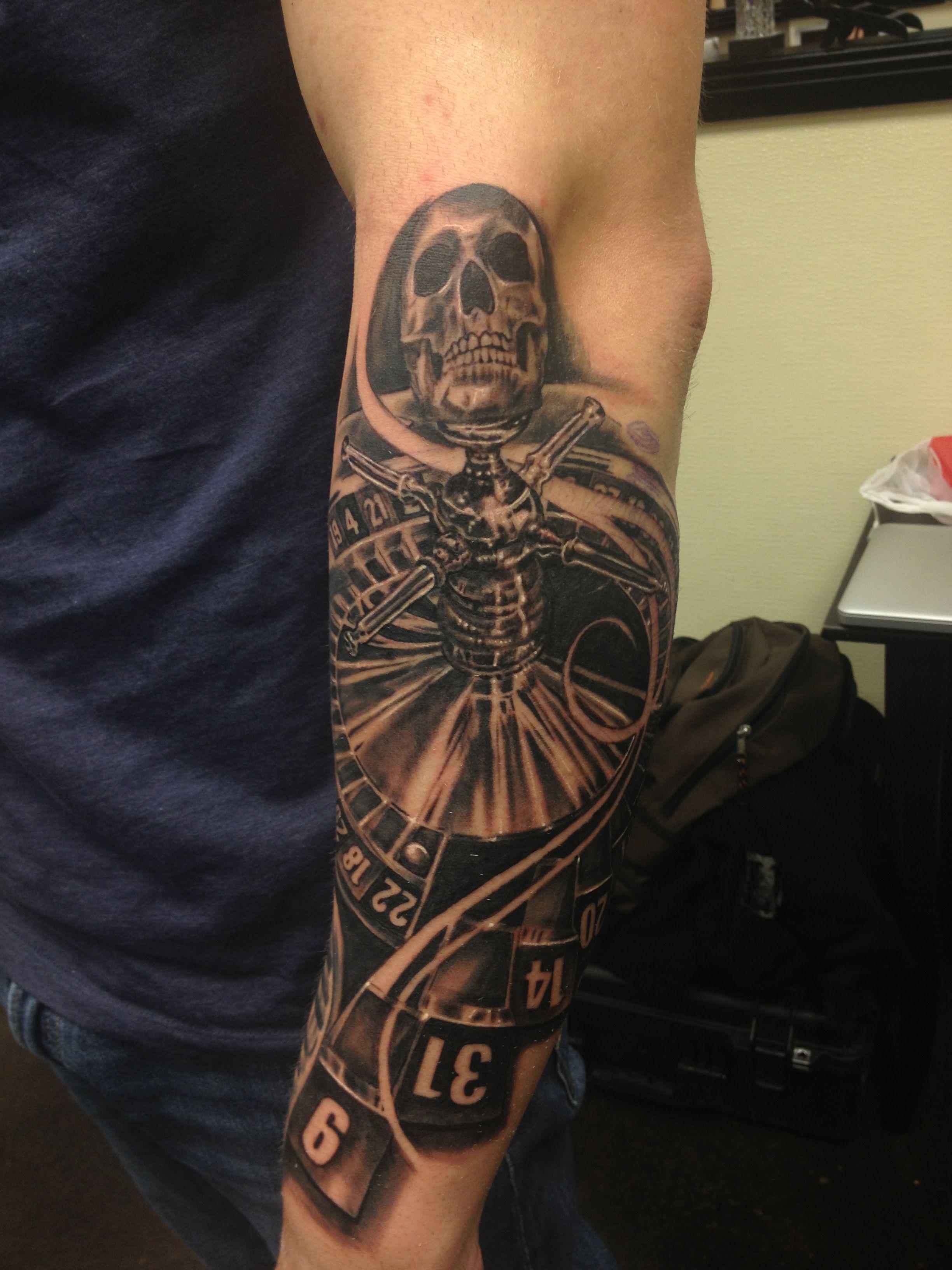Roulette | Custom Tattoos | Casino tattoo, Wheel tattoo ...