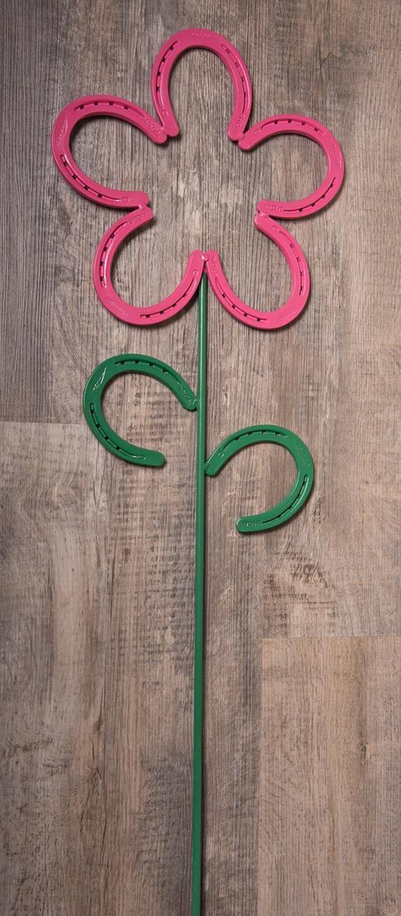 Horseshoe Flower Horseshoe Art   Etsy