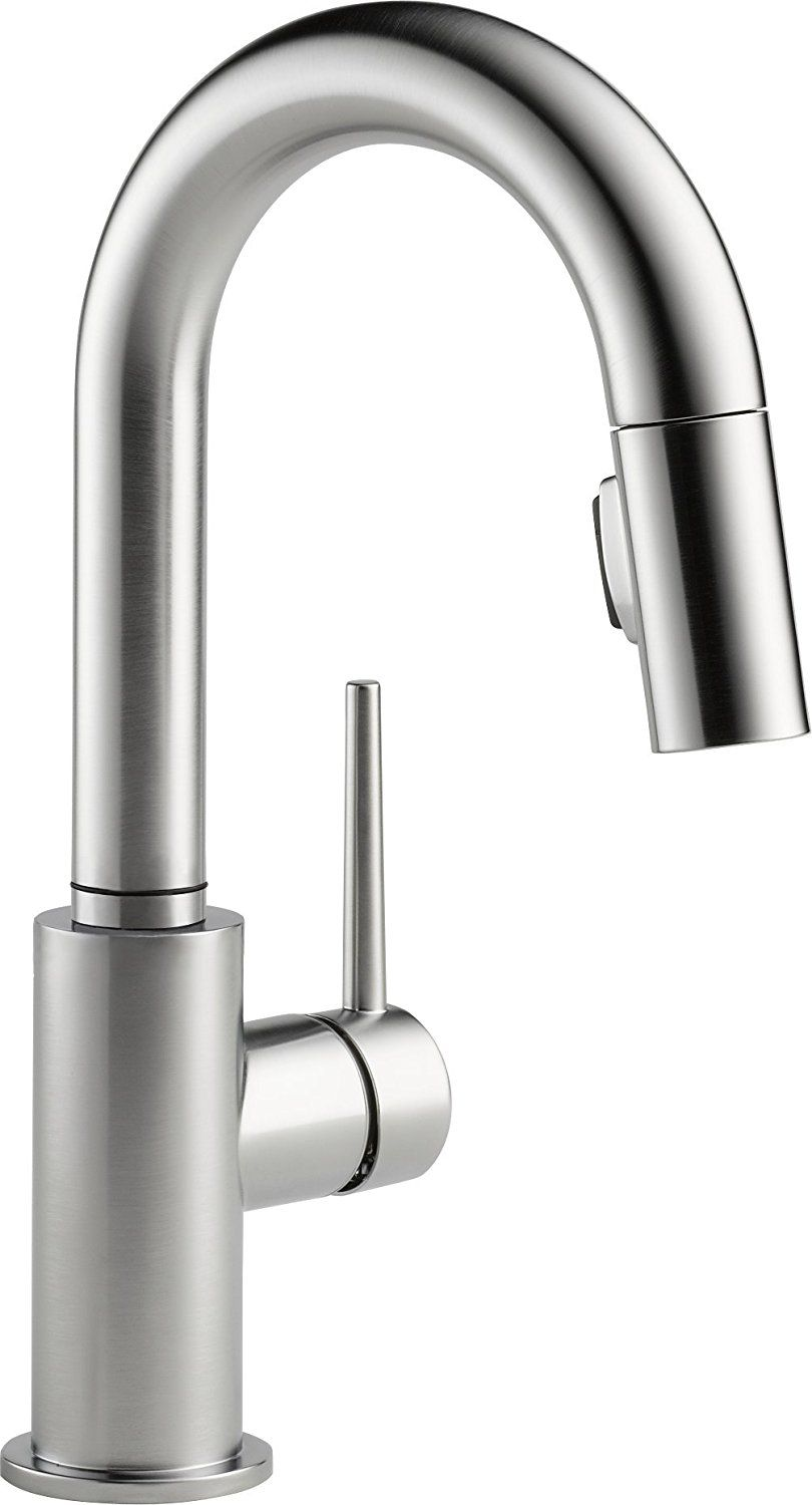 Delta 4159 Ar Dst Arctic Stainless Trinsic Pull Out Kitchen Faucet Includes Lifetime Warranty Pull Out Kitchen Faucet Matte Black Kitchen Faucet Kitchen Faucet