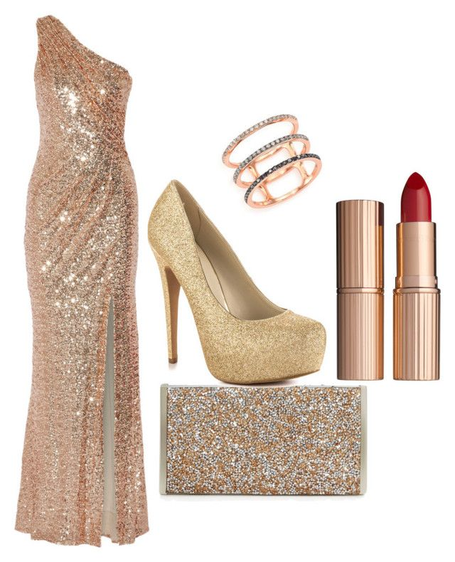 """""""feeling like a star"""" by style-on-the-edge ❤ liked on Polyvore featuring Badgley Mischka, La Regale, ALDO, Charlotte Tilbury and EF Collection"""