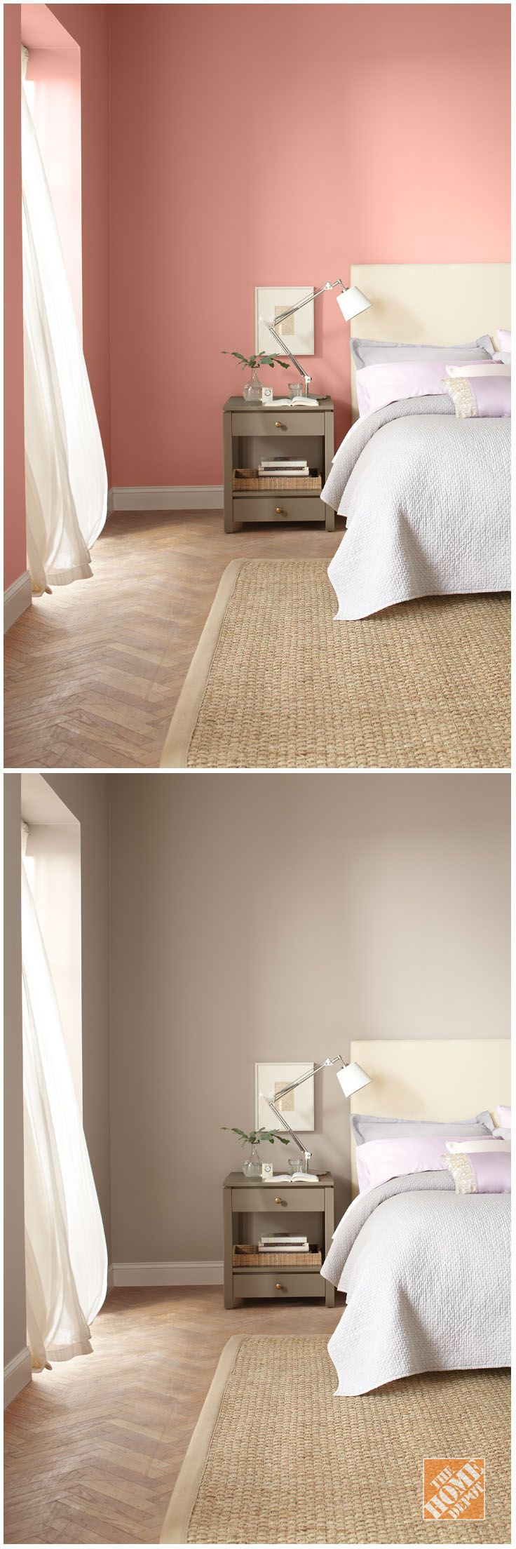Incroyable No Matter Your Color Palette, A Fresh Coat Of Behr Paint Can Make A Big  Difference In A Bedroom Makeover! Check Out The Home Depot Color Center For  A Great ...