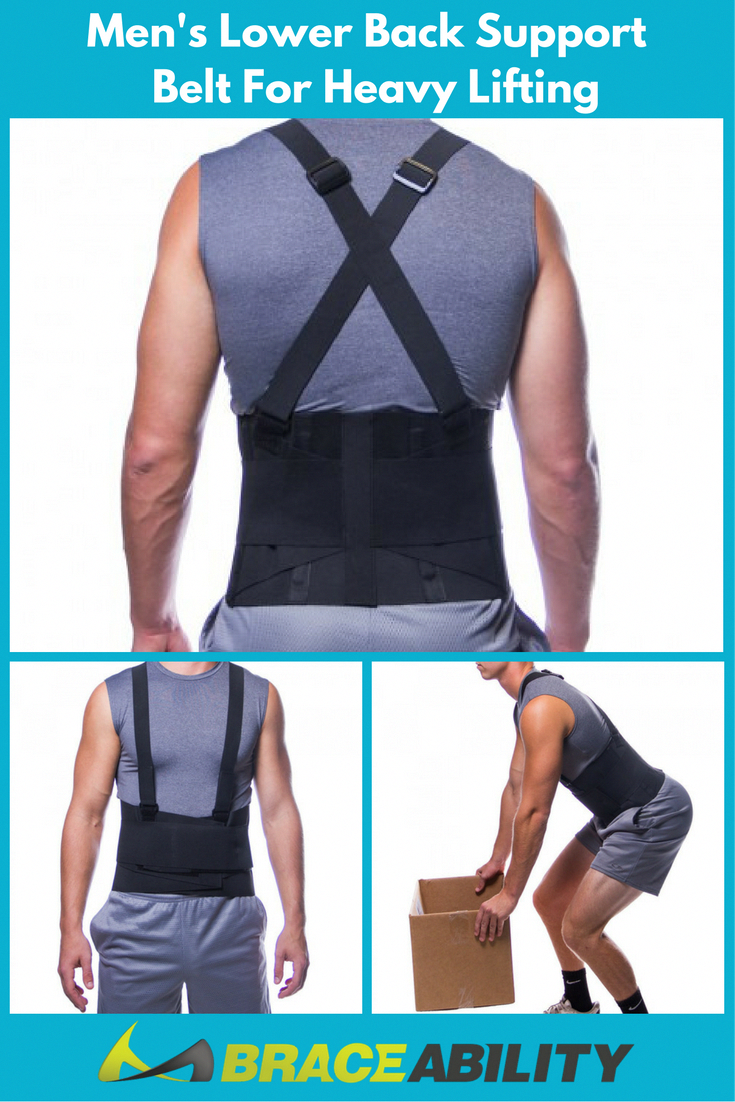 19c2527af1 Men s Lower Back Support Belt for Heavy Lifting-- This lumbar back brace is  specifically designed to help support the lower back muscles while you re  ...