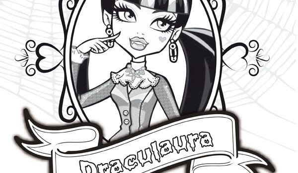 Dibujo para colorear foto con marco de Draculaura | Colorear Monster ...