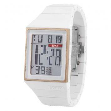 EDWIN FreED Gold IP & White Multi-function Digital Watch