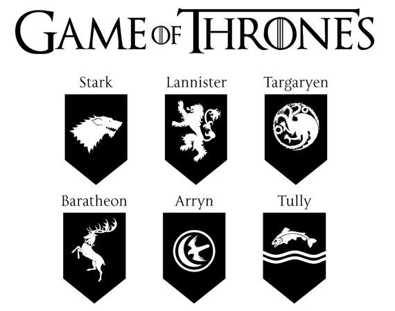 game of thrones dxf svg eps png file for use with your